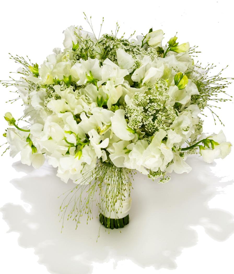 beach wedding flowers white green ivory | OneWed.com