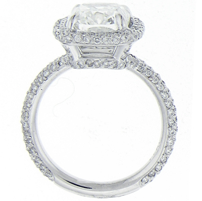 photo of Micro Pave Engagement Ring AD4600