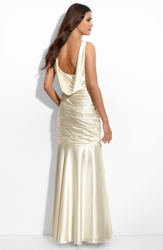 Cowl Back Mermaid Gown