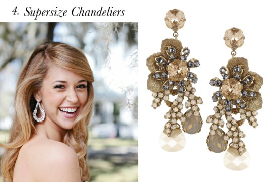 the wedding report stylish wedding ideas statement chandelier earrings
