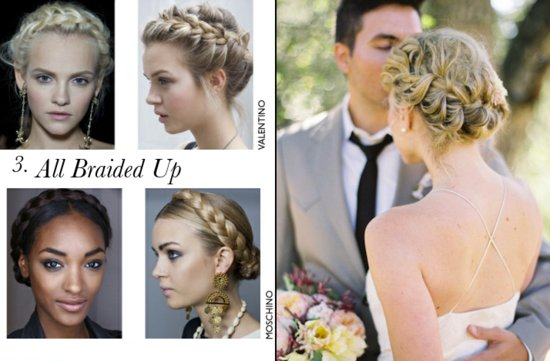 the wedding report stylish wedding ideas braided bridal updos
