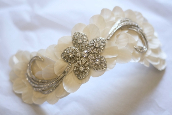 bridal veils hair accessories by Suzy Orourke ivory crystal headpiece art deco