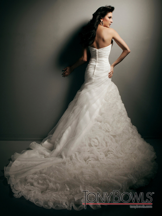 wedding dress fall 2012 tony bowls for mon cheri bridal gowns T212274