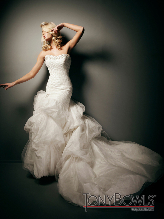 wedding dress fall 2012 tony bowls for mon cheri bridal gowns T212273