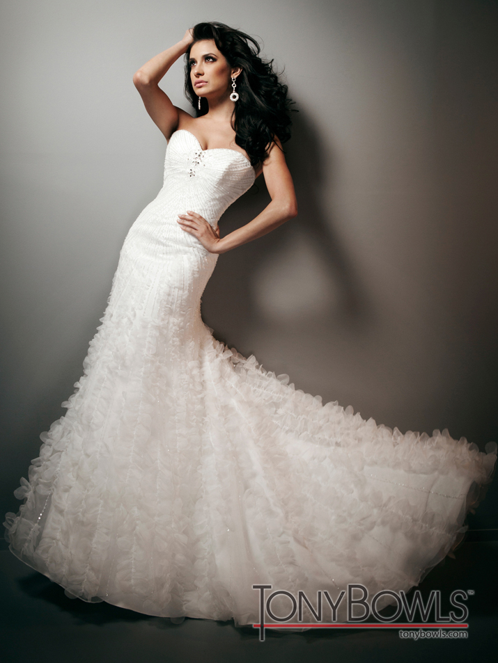 photo of wedding dress fall 2012 tony bowls for mon cheri bridal gowns T212272