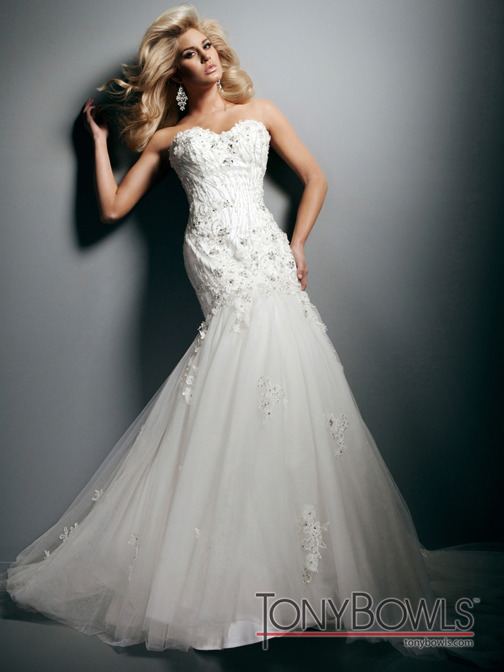wedding dress fall 2012 tony bowls for mon cheri bridal