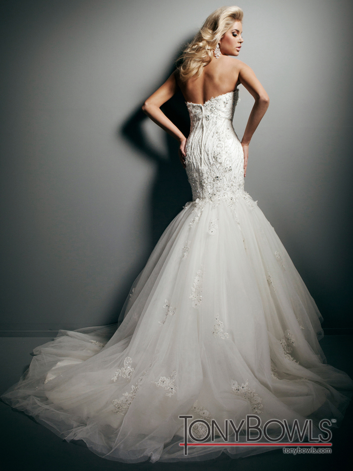 wedding dress fall 2012 tony bowls for mon cheri bridal gowns T212271