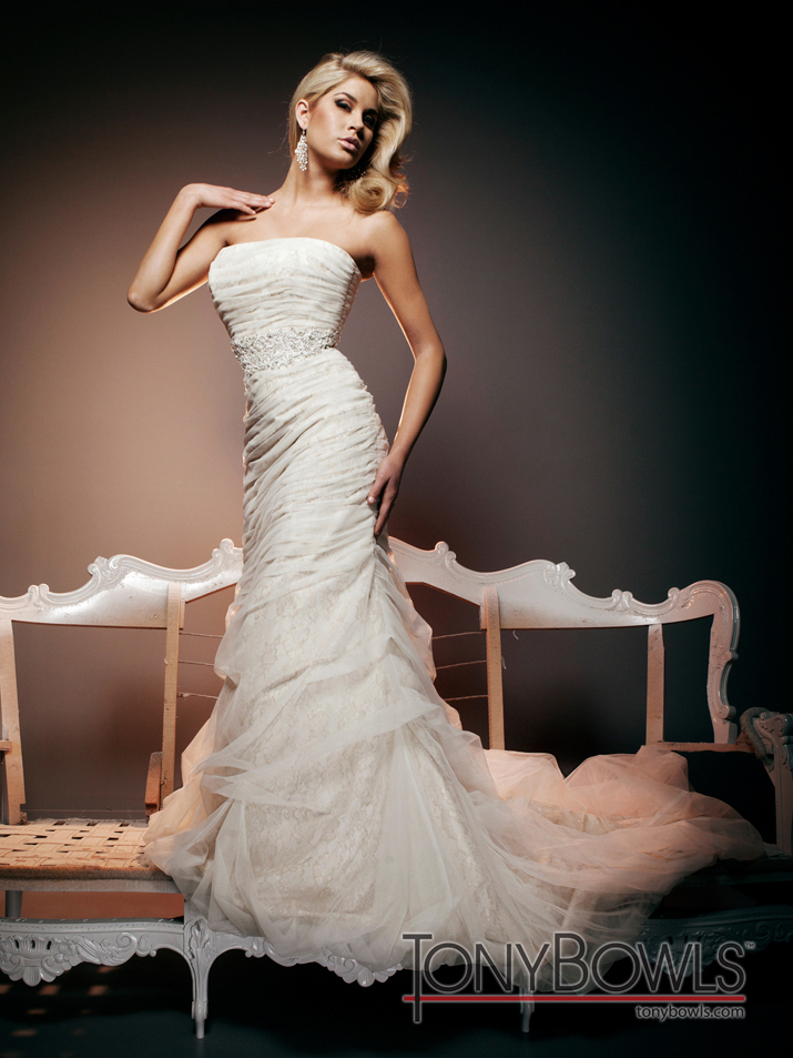 wedding dress fall 2012 tony bowls for mon cheri bridal gowns T212270