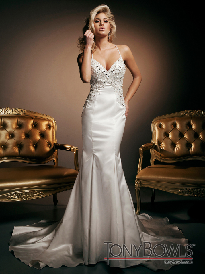 wedding dress fall 2012 tony bowls for mon cheri bridal gowns T212269