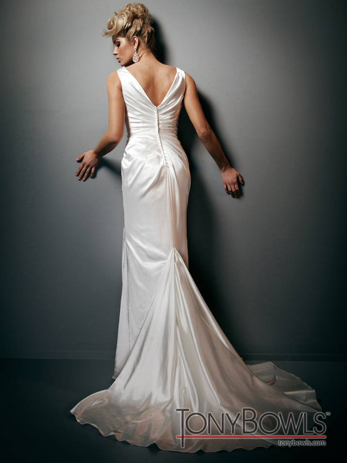 photo of wedding dress fall 2012 tony bowls for mon cheri bridal gowns T212268
