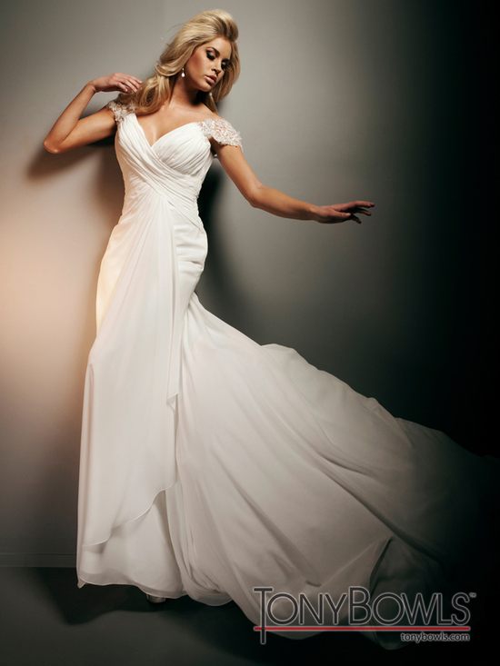 wedding dress fall 2012 tony bowls for mon cheri bridal gowns T212267