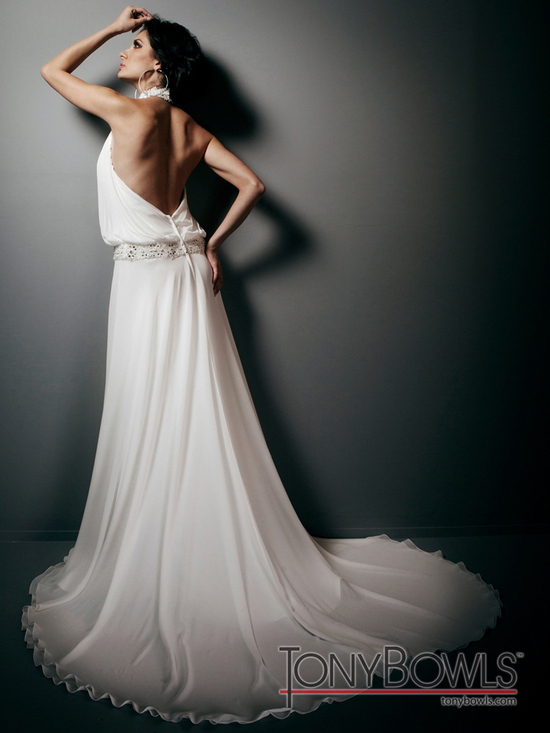 wedding dress fall 2012 tony bowls for mon cheri bridal gowns T212266