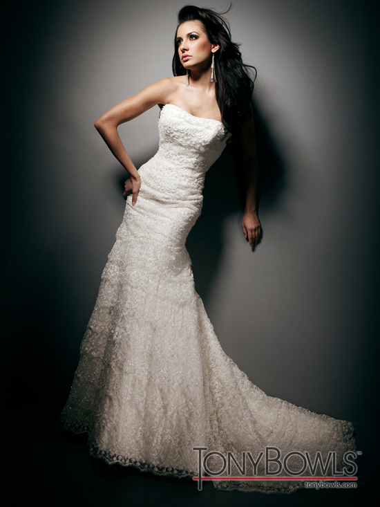 wedding dress fall 2012 tony bowls for mon cheri bridal gowns T212265
