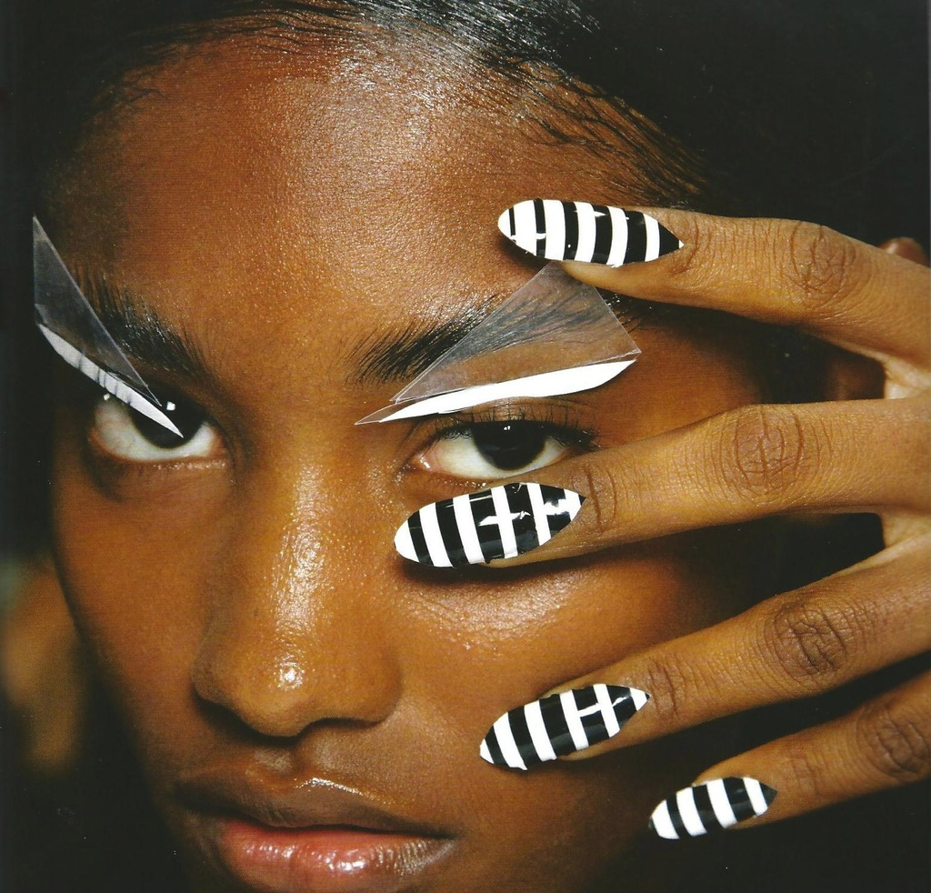 black white wedding nails high fashion bridal beauty