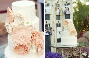 photo of romantic floral wedding cakes 1