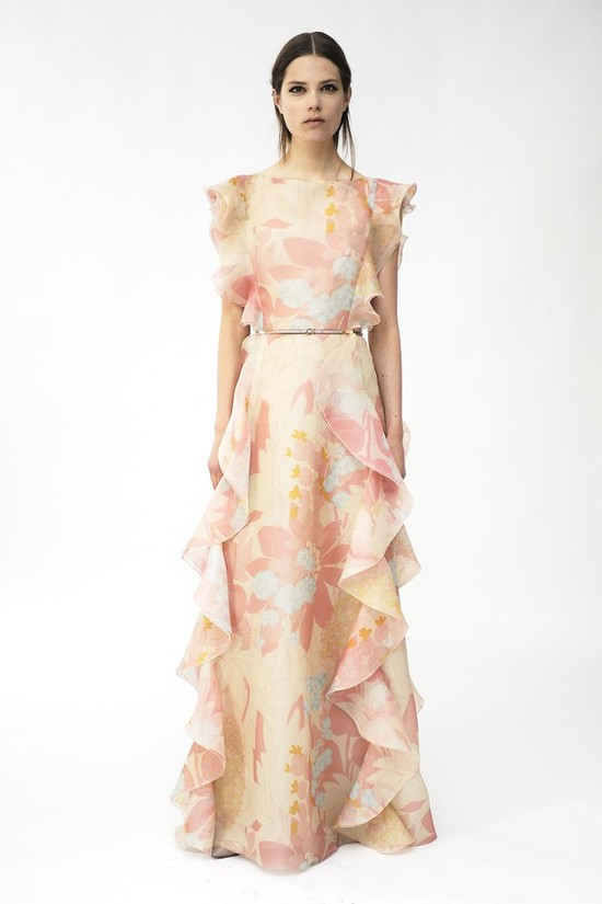 floral printed wedding dress by Valentino 1