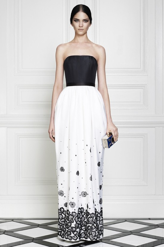 white black wedding dress by Jason Wu