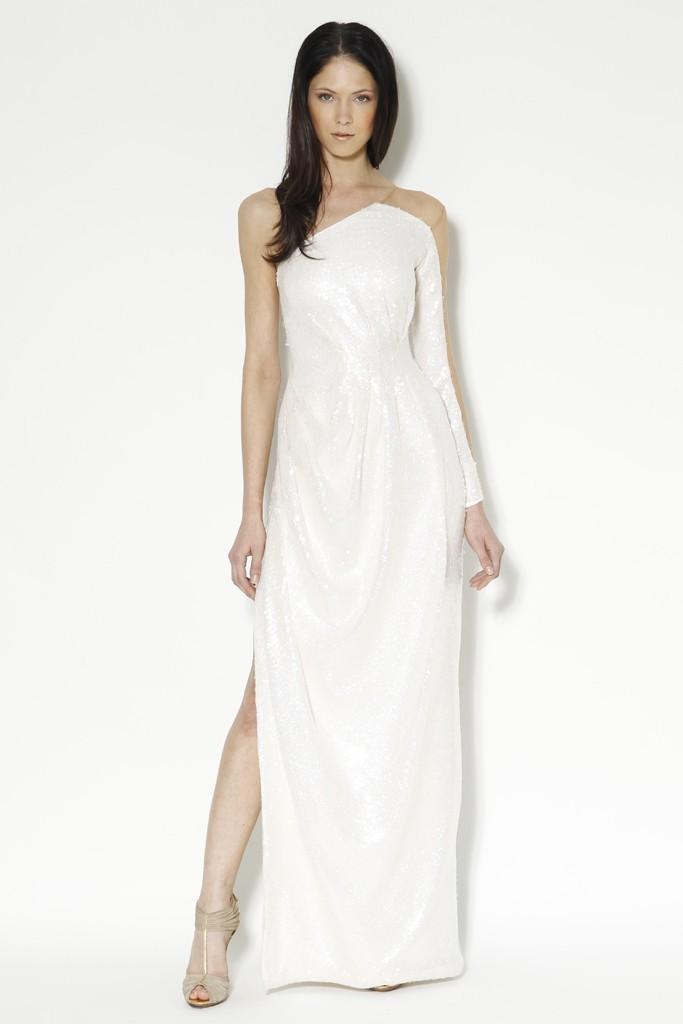 one shoulder wedding dress by Carlos Miele
