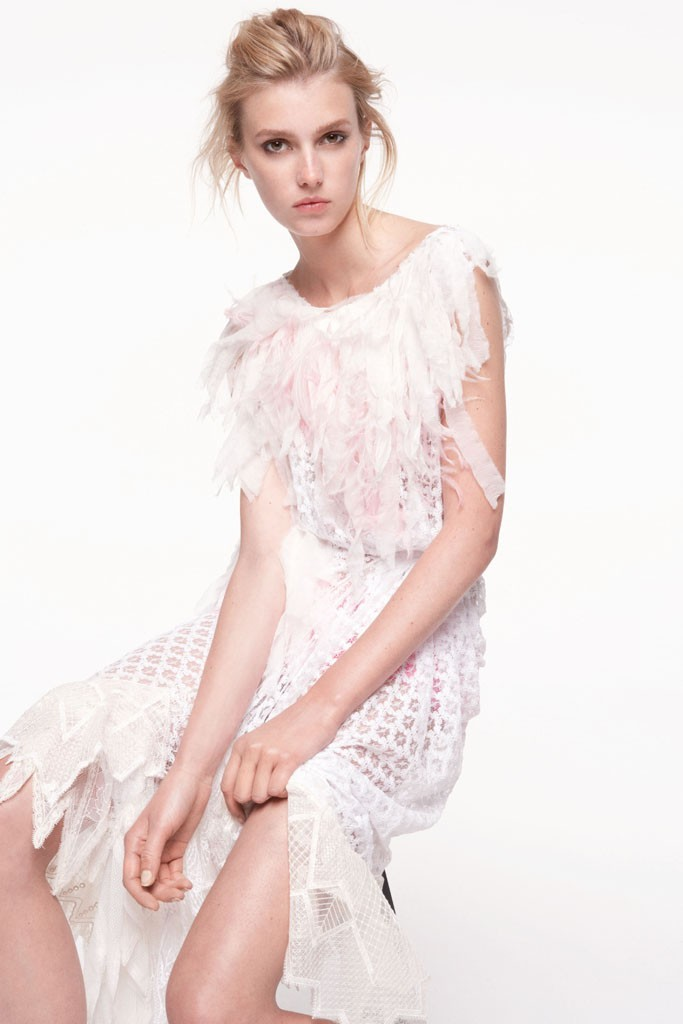 tattered LWD for wedding reception by Nina Ricci
