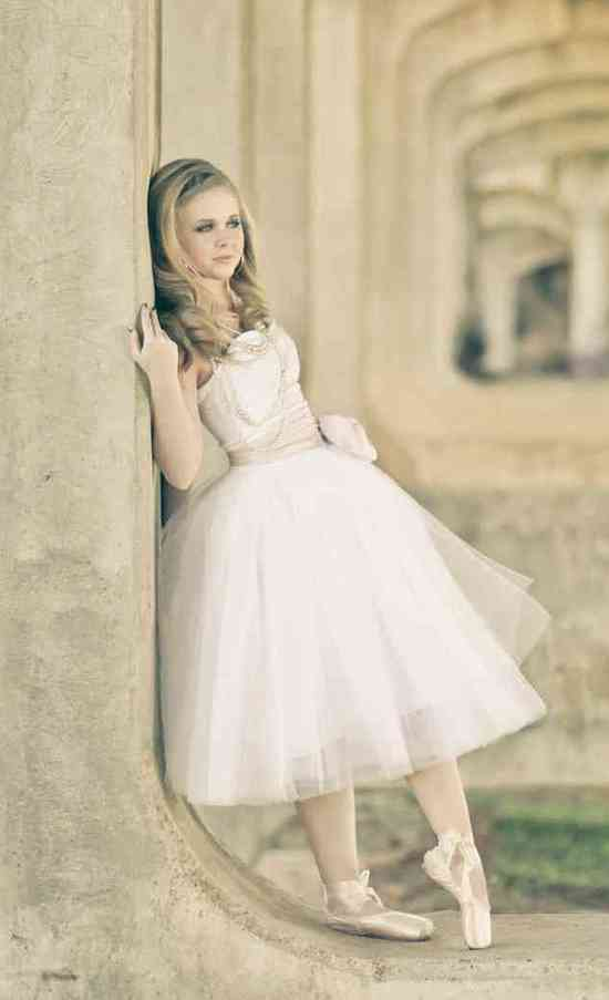 ballerina bride wedding dress tulle with sash