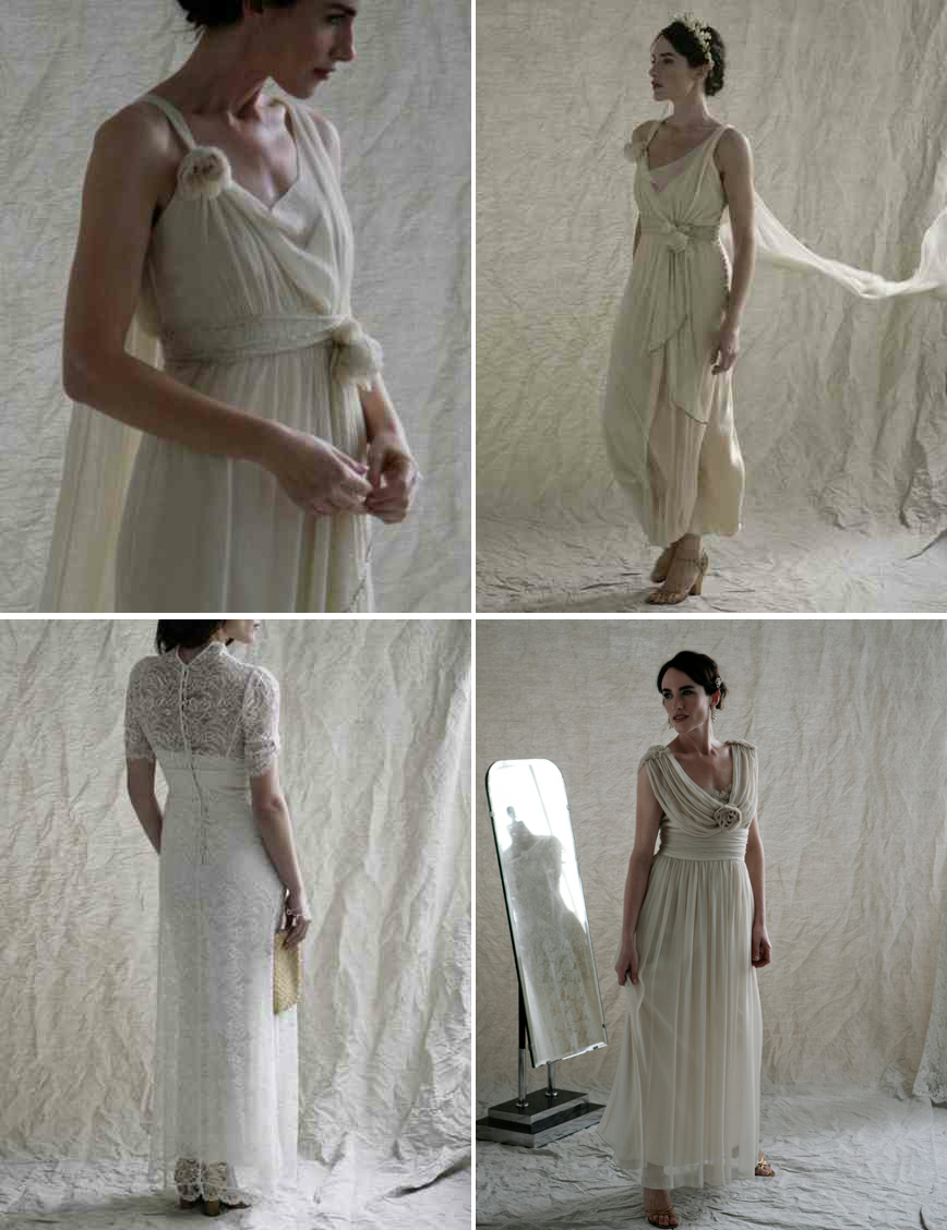 Downton abbey inspired wedding dresses from london 3 for Downton abbey style wedding dress