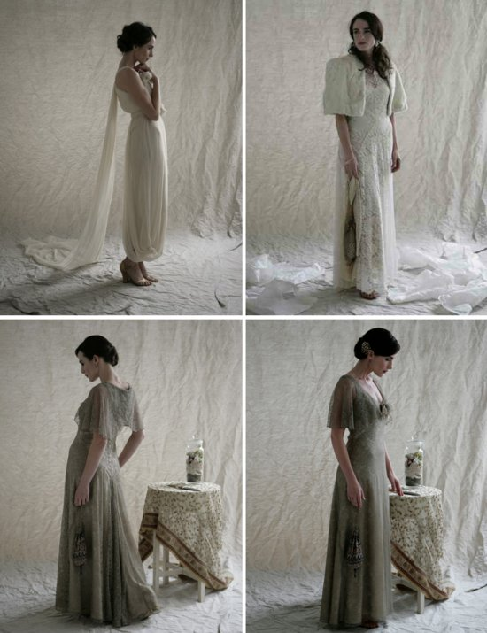 Downton Abbey inspired wedding dresses from London 1