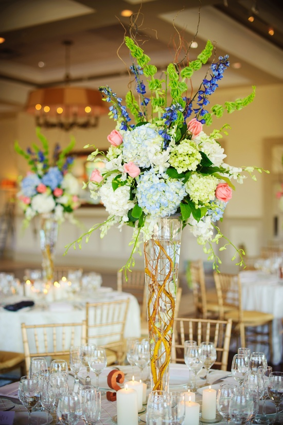 elegant real wedding with simple DIY details spring topiary centerpiece