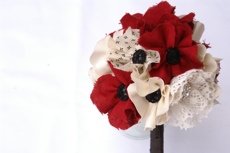 Fabric Bridal Bouquet Wedding Flower Alternatives