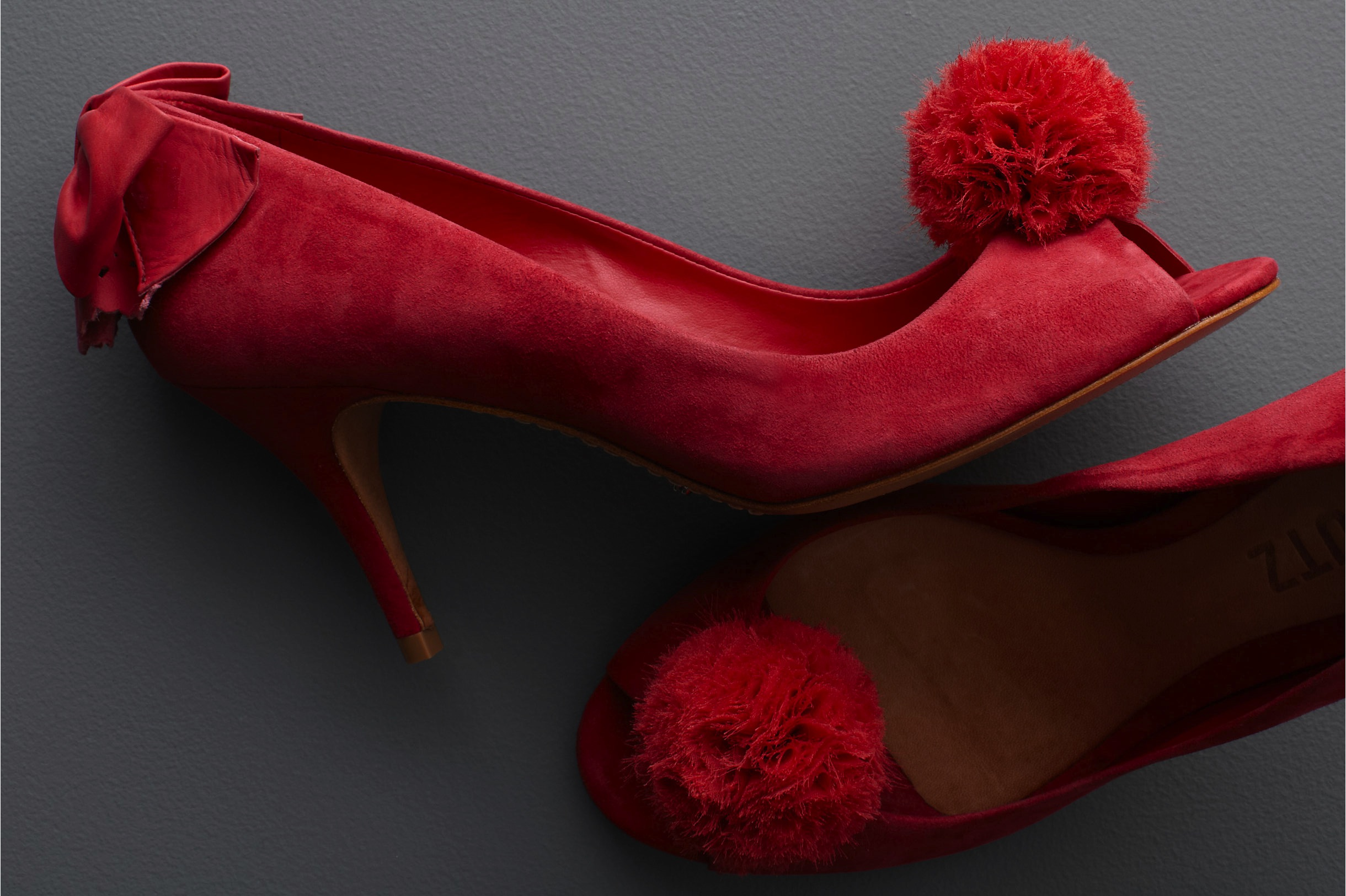 Red Suede Wedding Shoes