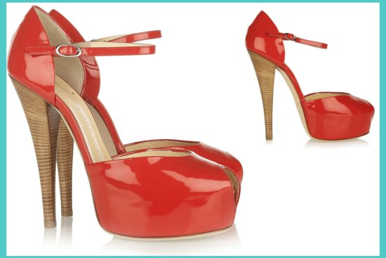 red platform wedding shoes peep toe