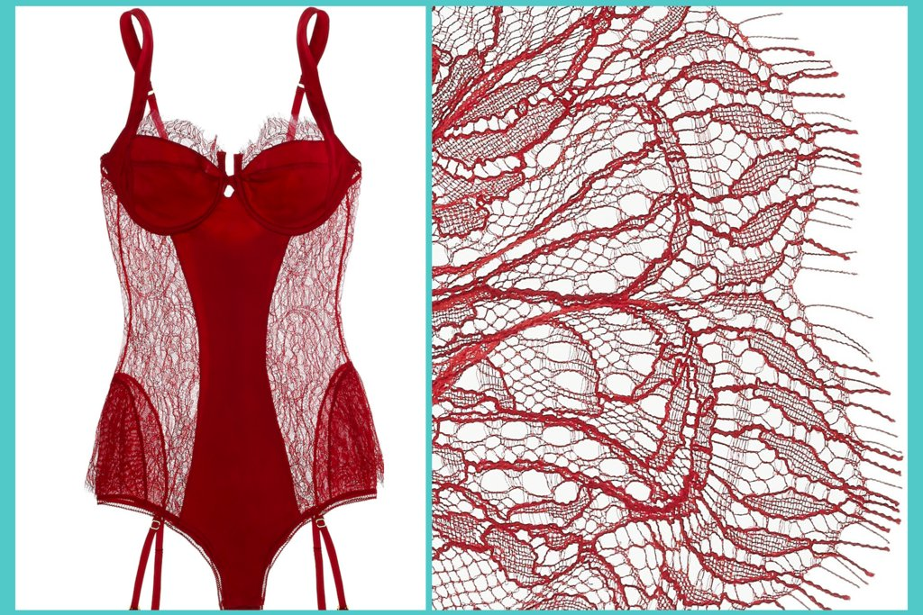 racy red lingerie for the wedding night