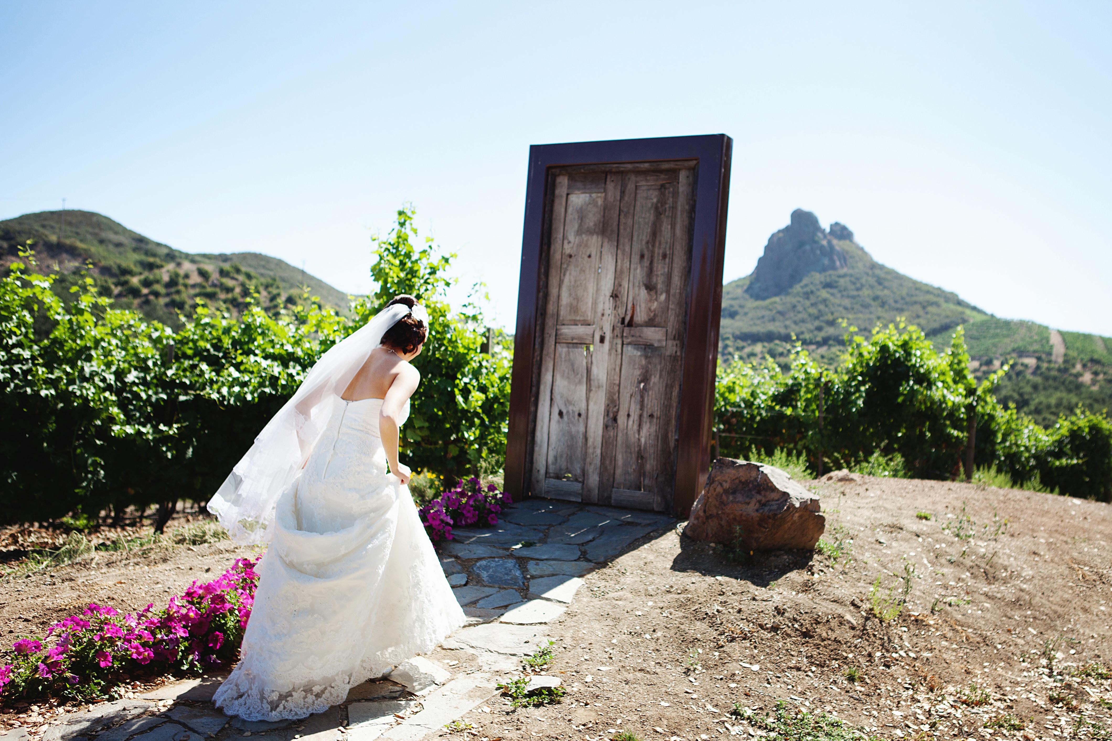 Creative First Look Wedding Photo Outdoor Weddings California 1