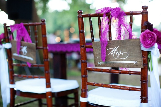 elegant outdoor wedding at winery in Malibu bride groom chairs