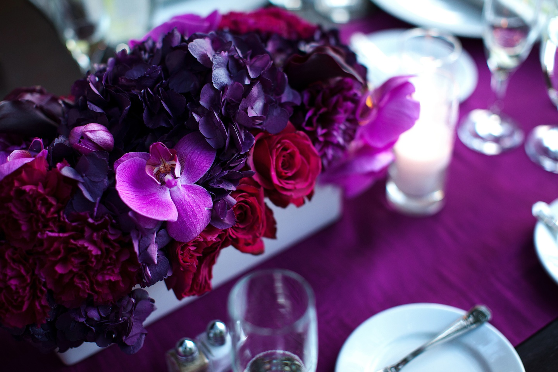 Inexpensive Purple Wedding Flower