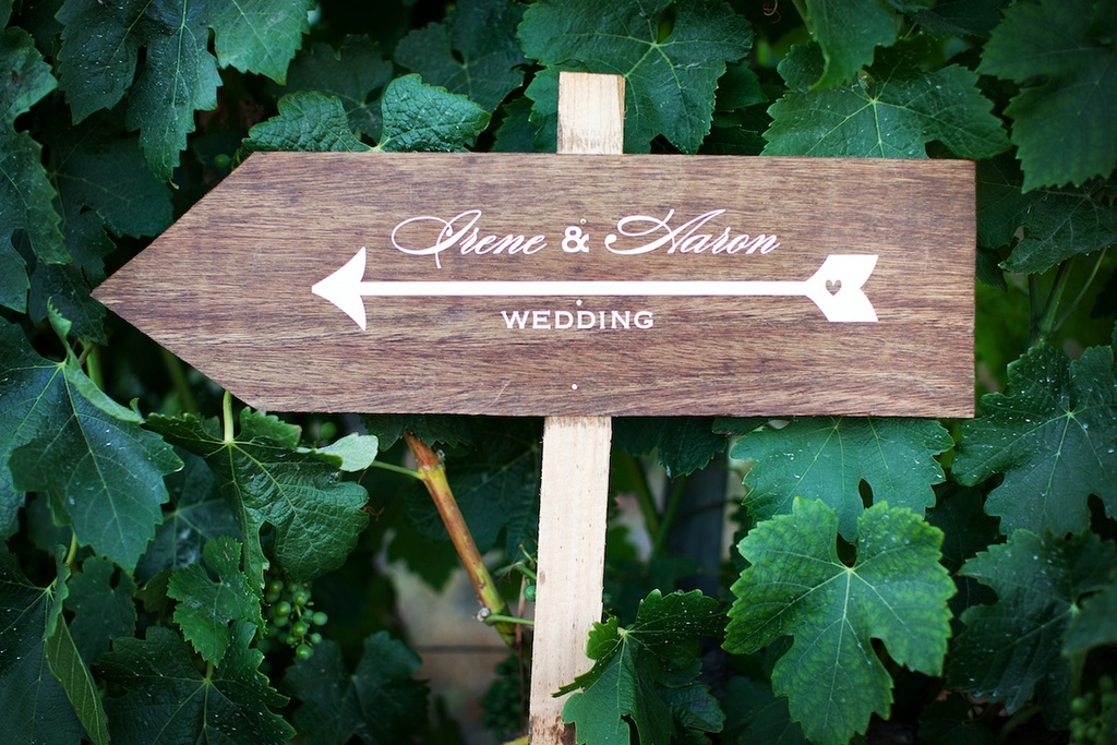 custom wedding sign wood for Malibu wedding