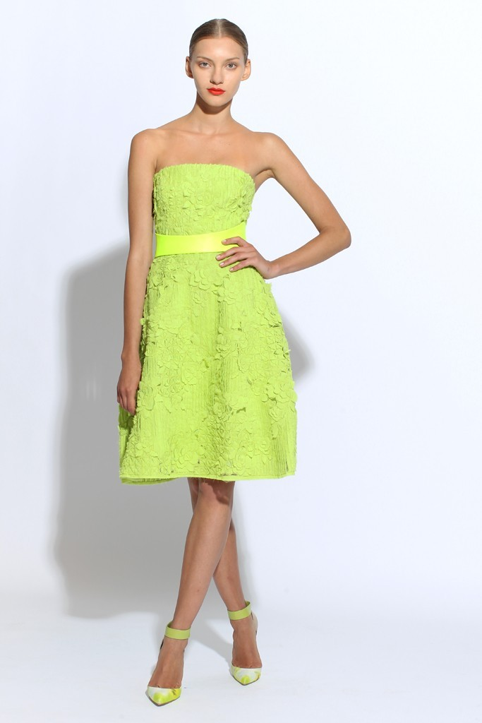 Lime Green Bridesmaid Dress From Monique Lhuillier