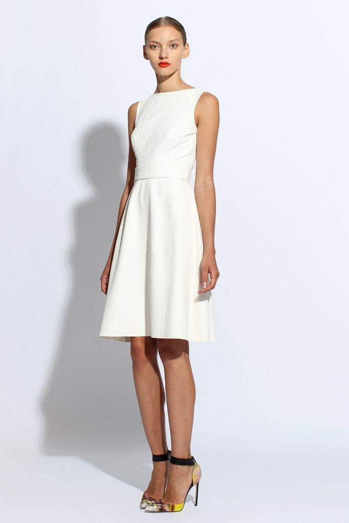 classic LWD for wedding reception by Monique Lhuillier