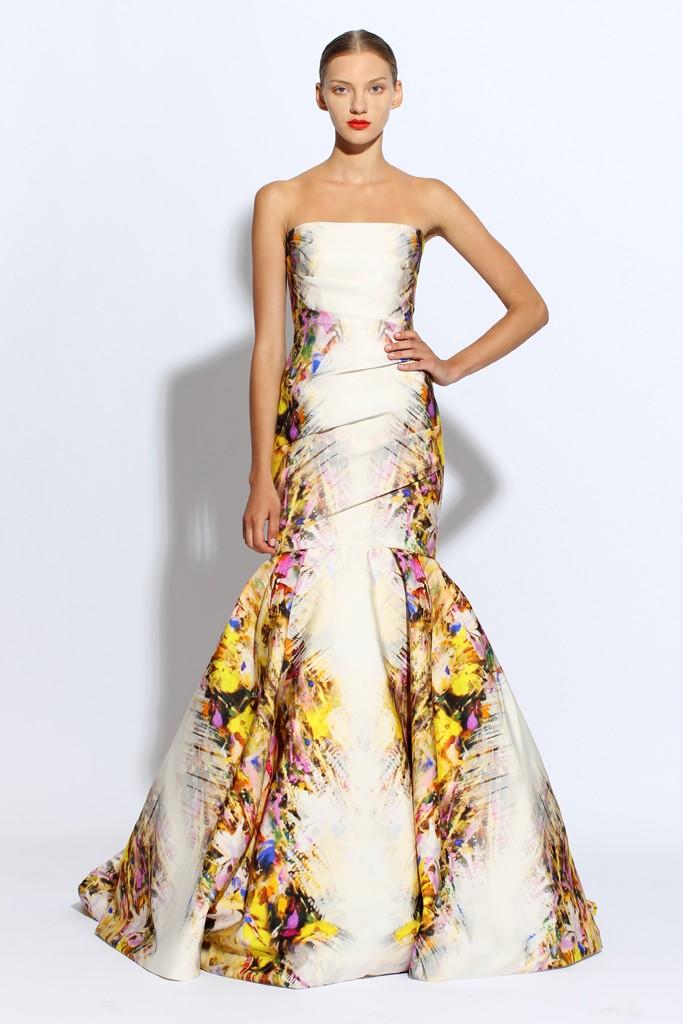 Monique lhuillier wedding dress ivory mermaid floral for Buy monique lhuillier wedding dress