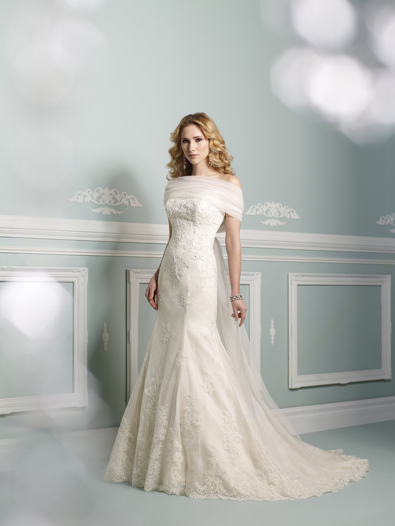 photo of wedding dress james clifford collection mon cheri fall 2012 bridal gown 21265 WRAP