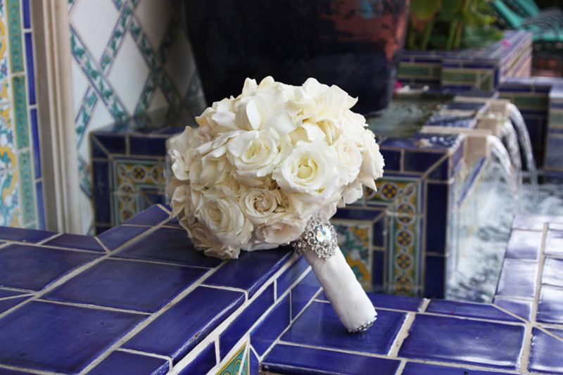 white ivory gardenia wedding bouquet elegant wedding flowers