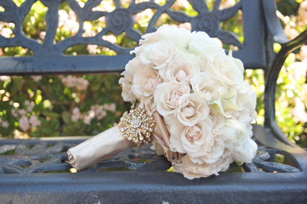 Pastel Pink Cream And Peach Wedding Flowers