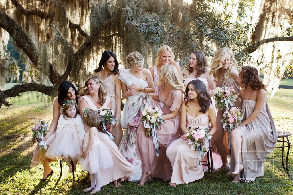 Romantic-garden-wedding-pastel-mix-and-match-bridesmaids.full