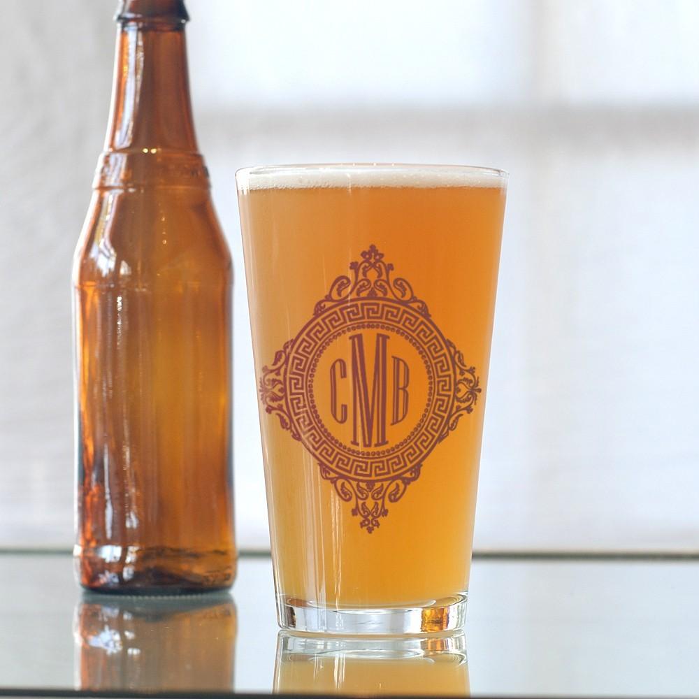 Customized Wedding Beer Glasses : custom wedding guest favors beer glasses OneWed.com