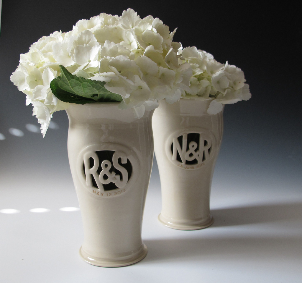 Personalized wedding ideas hydrangea centerpiece