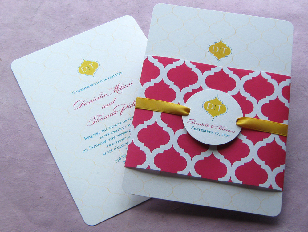 cultural weddings red gold wedding invitations