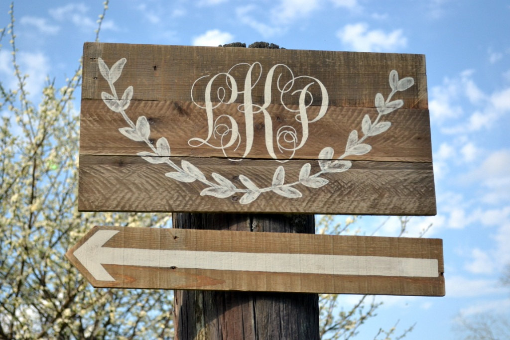 Rustic Wedding Custom Monogram On Wood Wedding Sign