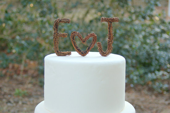 wedding cake toppers initials metal ideas to incorporate a custom wedding monogram etsy 26512