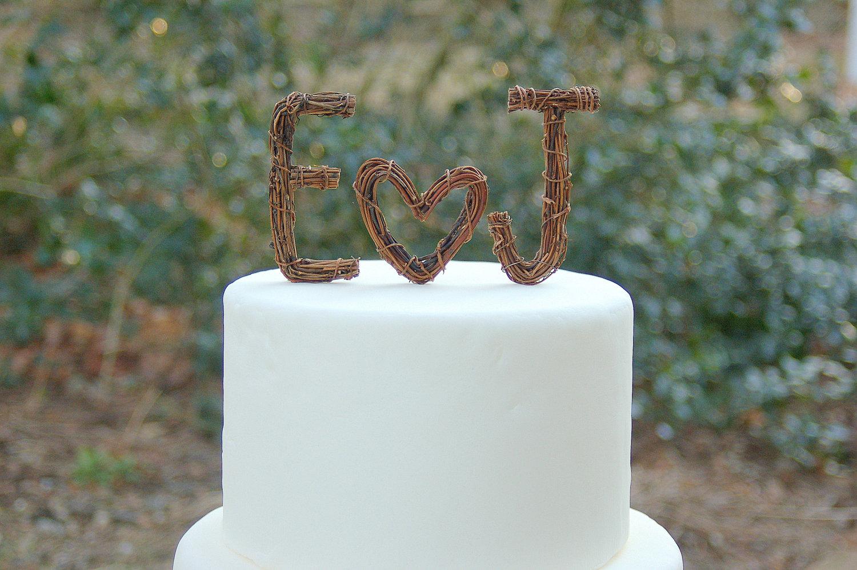 Custom Monogram Cake Toppers For Weddings