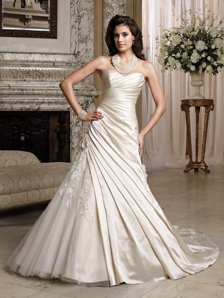 Wedding Dresses  David : Wedding dress david tutera fall mon cheri bridal gown