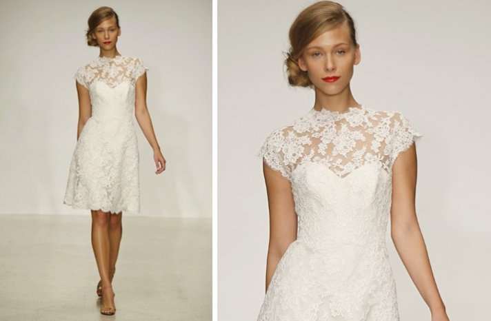 pretties little white wedding dresses spring 2013 amsale lace full